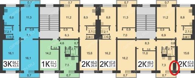 Дома серии КПД-4570-73/75, -73/120, -75/82Т, -81/45 - планировки квартир - панельные пятиэтажки Военпроекта