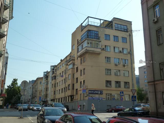 Конструктивистский дом - 2-я Тверская-Ямская улица, 38, Москва