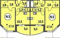 Планировка однокомнатной квартиры в домах КОПЭ-башня