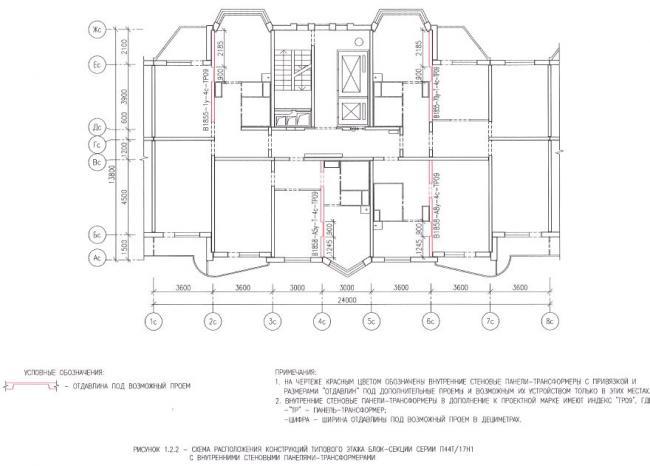 Перепланировка квартир в домах серии П44Т/17Н1