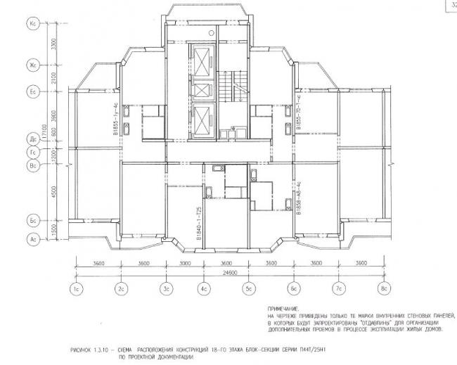 Перепланировка квартир в жилых домах серии П44Т/25Н1