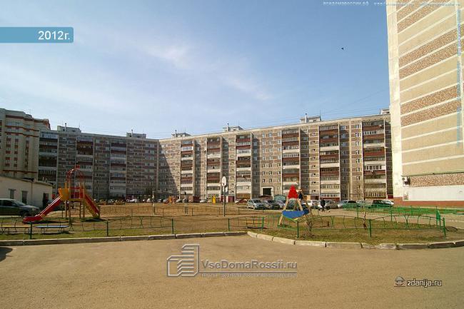 Казань Проспект Победы 124 панельный дом серия 125