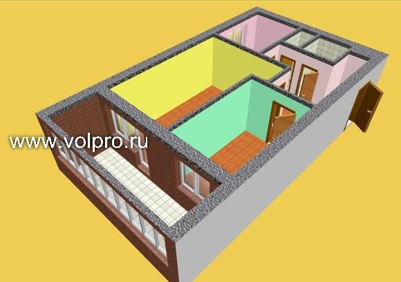 План 2 комнатной квартиры