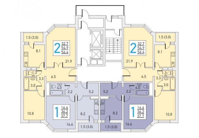 Серия И155ММ, планировки квартир