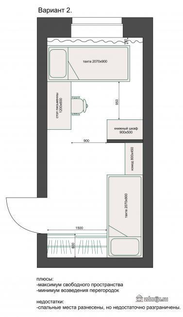 Комната для брата и сестры, перепланировка, расположение мебели
