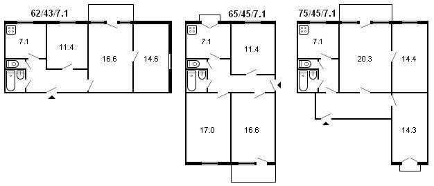 Помогите  узнать планировку квартиры
