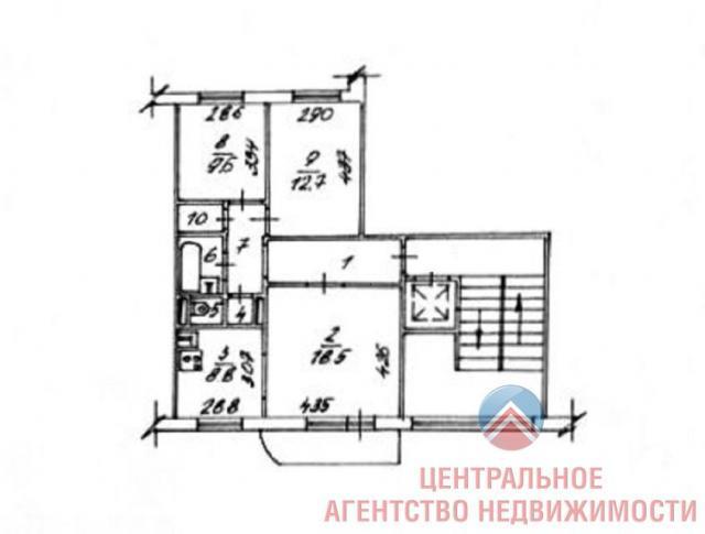 Панельная десятиэтажка 97 серии, Новосибирск (отр.адм.) Помогите определить серию дома и найти планировки подвала и этажей