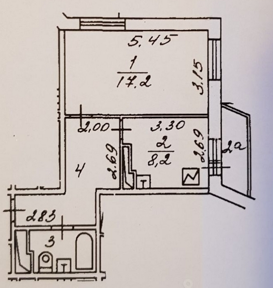 Планировка квартиры Ярославское шоссе дом 122 корп 1. Москва