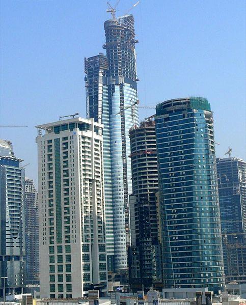 строительство небоскрёб Almas Tower («Олмаз Тауэр»)( Башня Алмаз )