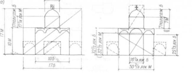 3. Схема западного фасада Елецкой церкви