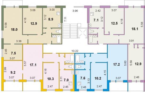 планировка в доме серии 1-464Д