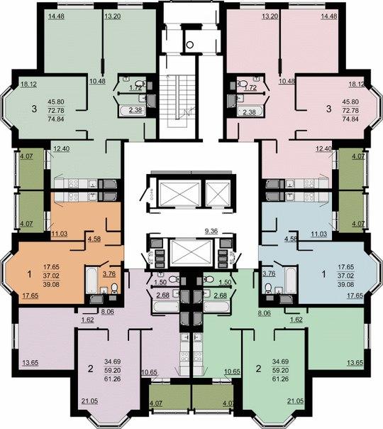 Планировки квартир И-155НБ