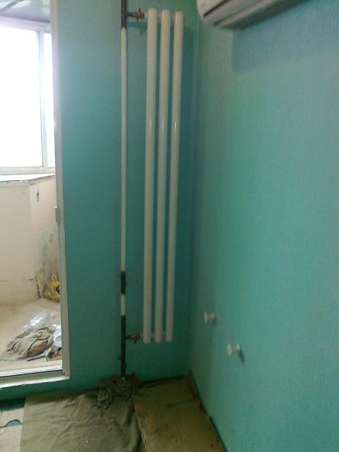 установка радиаторов с газосваркой