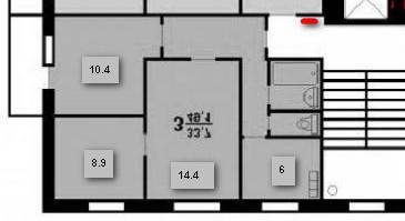 3х комнатная