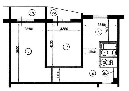 Дома серии II-57А/12, планировки квартир