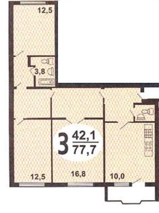 Планировки трёхкомнатных квартир в домах серии и-155