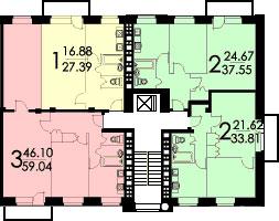 Планировки квартир в домах серии II-29