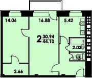 Планировки квартир в домах серии II-29 - двушка