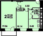 Планировки квартир в домах серии II-29 -двушки