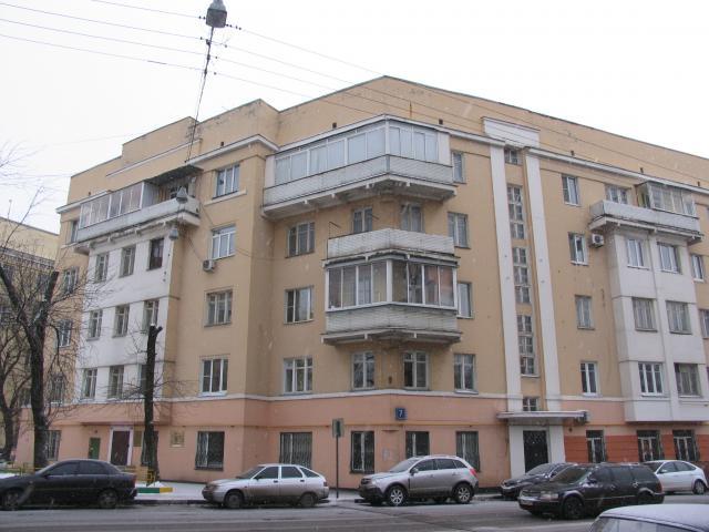 Конструктивистский дом ул Восточная д 7 Москв