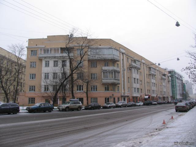 Конструктивистский дом ул Восточная дом 7 Москва
