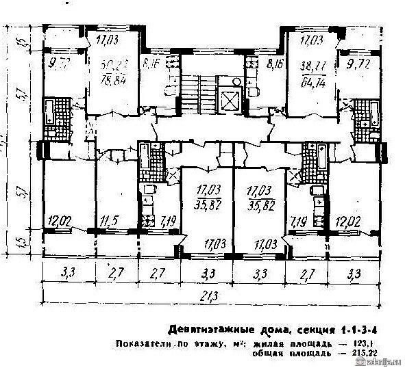 Дома серии 111-94 с планировками квартир ( отр. админ. ) пом.