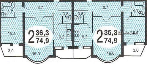 планировки двухкомнатных квартир в домах серии и-155