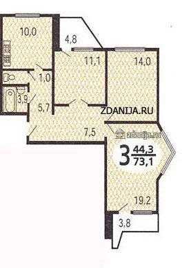 планировки трёшек в домах серии п44т