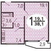 планировки однокомнатных квартир в домах серии п 44т
