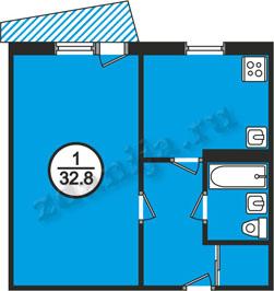 планировка однокомнатных квартир в домах в домах 121 серии