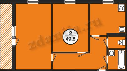 планировки двухкомнатных квартир в домах в домах 121 серии