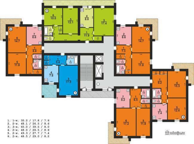 планировки квартир серии 124-87-10