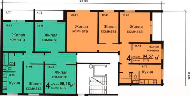 Планировки четырёхкомнатных квартир (типовых)