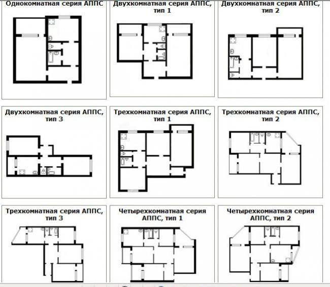 Cерия АППС ЧН-94 и её планировки квартир