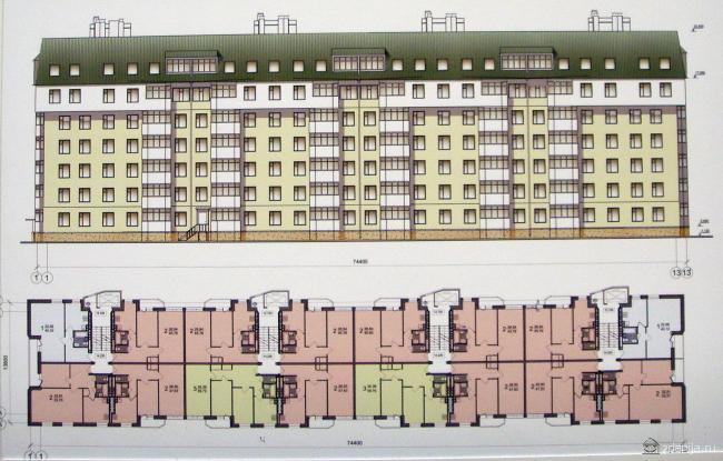 вариант реконструкции домов серии 1-510 с надстройкой