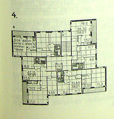 Серия 60, проект серии 121-60-25 - планировки, характеристики