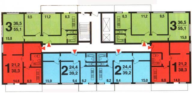 планировка квартир 1МГ-601