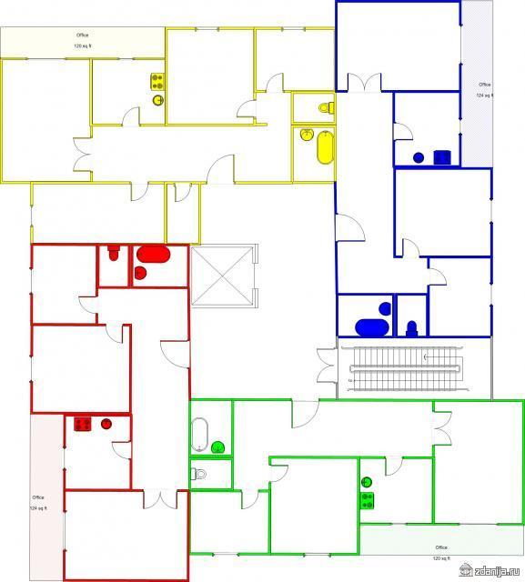 Планировка квартир в доме серии 121-60-25