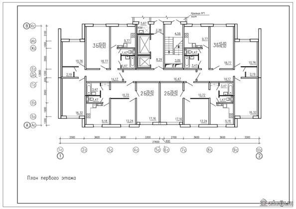 план первого этажа планировки квартир дом серии п3м-6