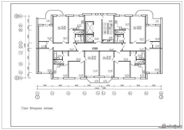 план второго этажа, дом серии дом серии п3м-6