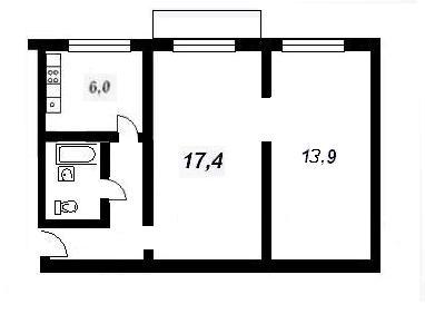планировки двухкомнатных квартир домах ( 1-511-8 ?)