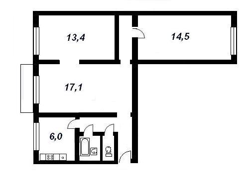 планировки трёхкомнатных квартир домах ( 1-511-8 ?)