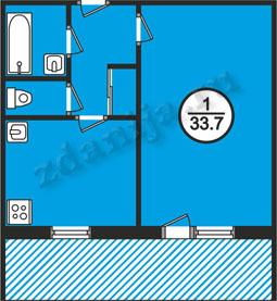планировка однокомнатных квартир в домах в домах серии 161
