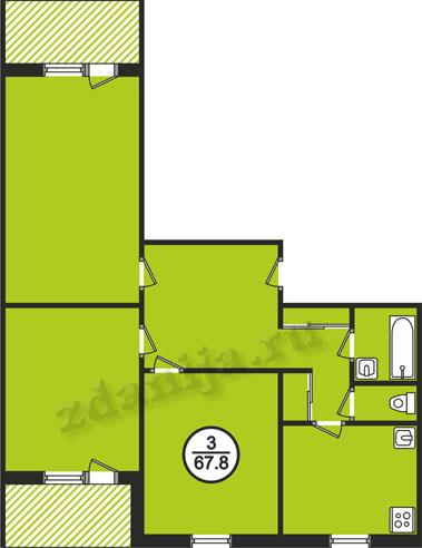 планировки трехкомнатных квартир в домах серии 161