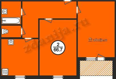 планировки двухкомнатных квартир в домах серии 134