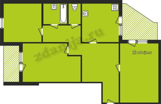 планировки трехкомнатных квартир в домах серии 134