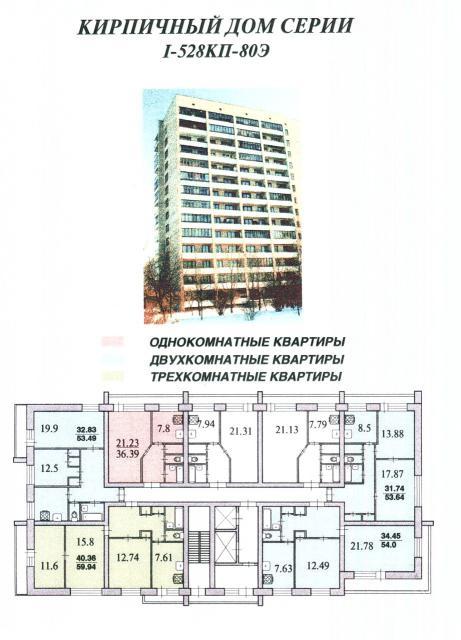 Кирпичные дома серии 1-528КП-80Э
