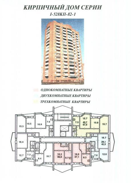 Кирпичные дома серии I-528КП-82-1