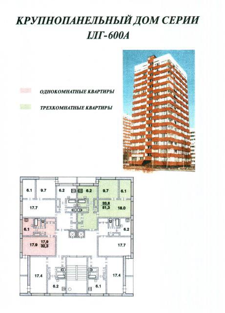 Крупнопанельные дома I-ЛГ600А - Типы и серии домов в Спб (Санкт петербурге) с планировками квартир