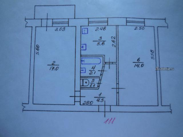 1-447C-37, -38, -39, -4 (отр.адм.) а в какой из серии хрущевок двухкомнатные квартиры вот с такой планировкой